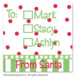 Christmas candy gift tags or insert cards, personalized by Dinky Designs