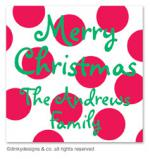 Cranberry holiday dots gift tags or insert cards, personalized by Dinky Designs