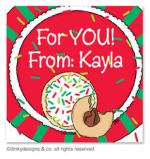 Christmas cookies gift tags or insert cards, personalized by Dinky Designs