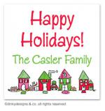 From our home to yours gift tags or insert cards, personalized by Dinky Designs