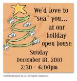 Christmas is a beach gift tags or insert cards, personalized by Dinky Designs