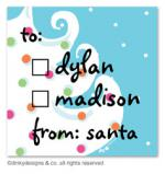Blue - white Christmas gift tags or insert cards, personalized by Dinky Designs