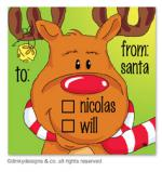 Bruce Reindeer gift tags or insert cards, personalized by Dinky Designs