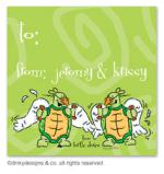 Two turtle doves gift tags or insert cards, personalized by Dinky Designs