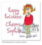 Holi-daze gift tags or insert cards, personalized by Dinky Designs