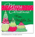 Christmas tree row gift tags or insert cards, personalized by Dinky Designs