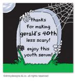 R.I.P. Remember its a Party gift tags or insert cards, personalized by Dinky Designs