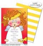 Addie Angel invitations, announcements or holiday greeting cards, personalized  by Dinky Designs