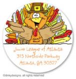 Thomas Turkey large round stickers or labels 2.5, personalized by Dinky Designs