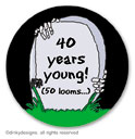 R.I.P. Remember its a Party small round stickersor labels 1.6, personalized by Dinky Designs