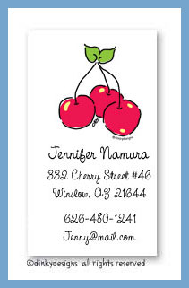 Cherry pickin' calling cards, personalized