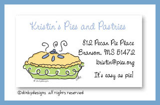 Perfect pie calling cards, personalized