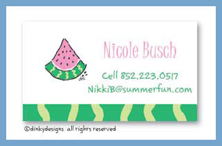 Watermelon calling cards, personalized