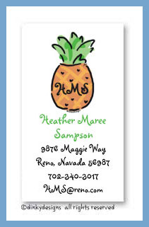 Pineapple calling cards, personalized