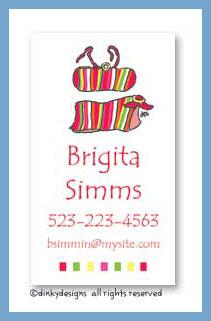 Bikini line bandeau calling cards, personalized