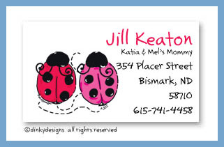 Love bugs calling cards, personalized