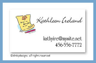 Notable calling cards, personalized