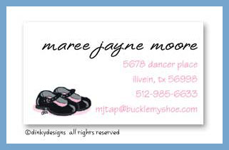 Mary janes calling cards, personalized