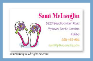 Flippin' flops calling cards, personalized