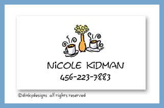 Coffee talk calling cards, personalized