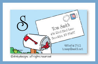 You've got mail calling cards on pre-printed cardstock, personalized
