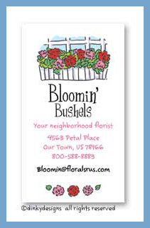 Window box calling cards, personalized
