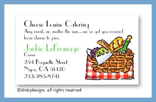 Picnic at the park calling cards, personalized