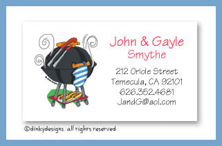 Barbeque calling cards, personalized