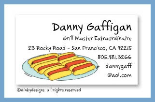 Buns & dogs calling cards, personalized