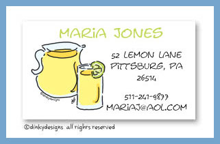 Lemonade in the shade calling cards, personalized