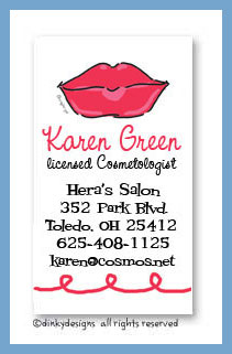 Dolly kisses calling cards, personalized
