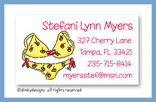 Teeni bikini calling cards, personalized