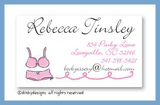Garment for girls calling cards, personalized