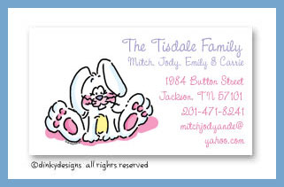 Ellie the bunny calling cards, personalized