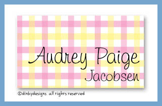 Everything nice calling cards on pre-printed cardstock, personalized