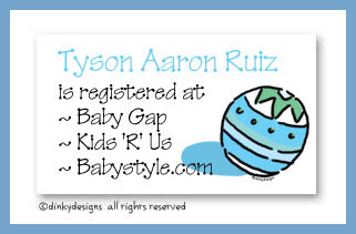 Super ball calling cards, personalized