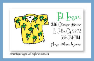 Beach Bum calling cards, personalized