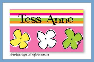 Posie paradise calling cards on pre-printed cardstock, personalized