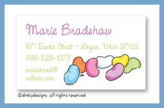 Beans - jelly calling cards, personalized