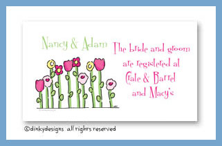 Petal pushers calling cards, personalized