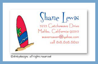 Wave rider calling cards, personalized