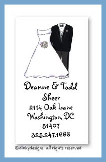 Bridal party calling cards, personalized