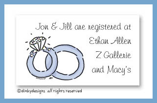 Wedding rings calling cards, personalized