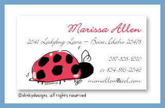 Little lady calling cards, personalized
