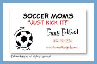 Soccer ball calling cards, personalized