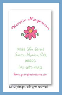 Pretty flower calling cards, personalized