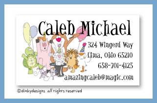 Magic party calling cards, personalized