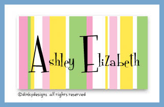 Spring line calling cards pre-printed cardstock, personalized
