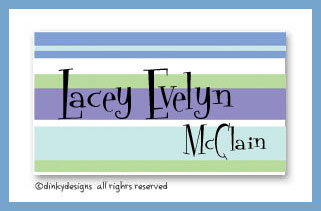 Winter line calling cards on pre-printed cardstock, personalized