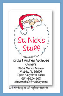 Jolly ol' St. Nick calling cards, personalized